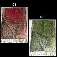 Jual Pasmina Batik Glitter Grade A Tebal Pashmina Souvenir Hadiah Scarf Murah