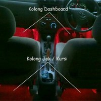 Lampu Led Kolong Dasboard Kabin Mobil Merah