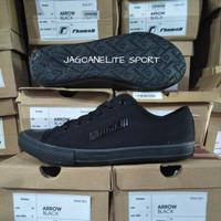 Sepatu Sekolah Hitam Polos Pria Wanita, Rhumell Master Black Original.