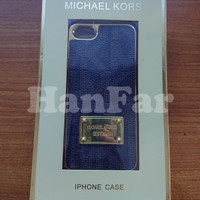 Hardcase backcover iphone 5 5s michael kors leather case