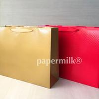 Paperbag 44.12.34 E-GIFT2 by Papermilk, Paperbag Embossed Merah & Emas