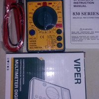 Digital Multimeter Avo Meter Digital Multitester Pocket DT830B