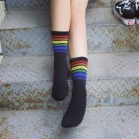 S/53 Skate Vans Strip kaos kaki impor Sock Black