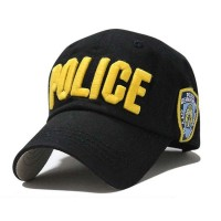 P/2 Topi Polisi NY New York Police Cap Hat Impor - yellow
