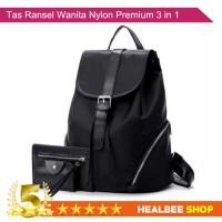 HLS Tas Ransel Wanita Bahan Nylon Premium 3 in 1