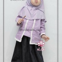 setelan gamis anak I baju muslim Surabaya I baju gamis anak I Calista