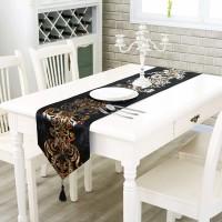 Table Runner / Bed Runner - Taplak Panjang - Luxury - Black - 33x210cm
