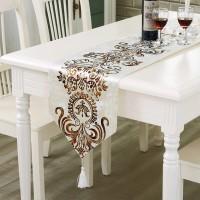 Table Runner / Bed Runner - Taplak Panjang - Luxury - Cream 33x210cm