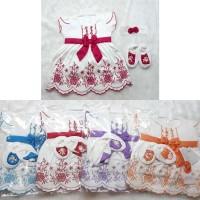 Baju Bayi Perempuan Baru Lahir Dress Bayi Bandana - Katie New