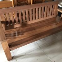 kursi taman kayu ulin outdoor