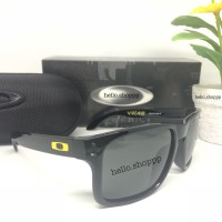 Kacamata Oakley Holbrook VR46 Valentino Rossi black glossy hitam