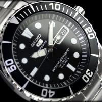 Seiko 5 Sports Sea Urchin Automatic 23 Jewels Black Dial #SNZF17K1