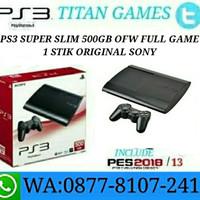 PS3 SUPER SLIM 500GB OFW FULL GAME REFURBISHED BY SONY + Stik Ori Sony