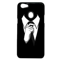 Case Casing OPPO F5 Case Hardcase Motif Unik Cowo Cowok Tuxedo Hitam