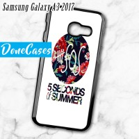 Casing Samsung A3 2017 5 Second Of Summer Floral Hard Case Custom