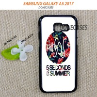 Casing Samsung A5 2017 5 Second Of Summer Floral Hard Case Custom