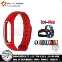 Mijobs Xiaomi Strap Mi Band 2 Oled Display Original - Red-White
