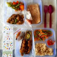 Lunch Box Bento FIM Tebal Bening/Food Container/Kotak Bento Plastik