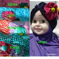 jilbab turban bayi polkadot