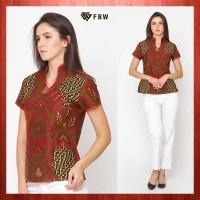 A23082 FBW Shanghai Cheongsam Batik Garuda Blouse - Merah