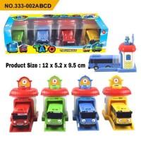 Mobil Tayo Garasi 4Pcs No.333-002 Mainan Tayo Bus Garasi Murah