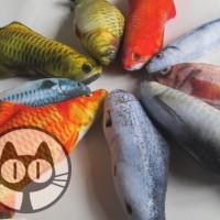 Mainan Kucing Catnip Ikan Lucu Plush Boneka Ikan S 18-20cm Termurah