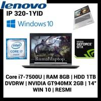 Laptop LENOVO IP 320 1YID I7-7500 RAM 8GB HDD1 TB GT940MX 2GB WIN 10