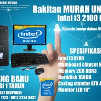 KOMPUTER MURAH PAKET UNBK i3 2100 + LED