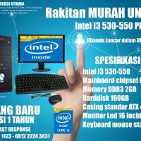 KOMPUTER MURAH UNBK INTEL I3 500 SERIES + LED 16 INCH
