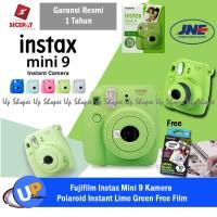 Fujifilm Instax Mini 9 Kamera Polaroid Instant Lime Green Free Film