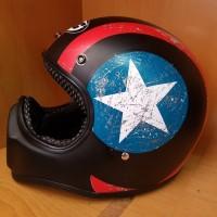 Helm Cakil HBC Captain America Black / Hitam Murah