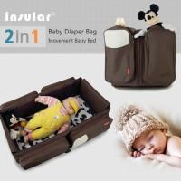 INSULAR BABY DIAPER BAG 2 IN 1 Tas Kasur Bayi Murah Bagus Berkualitas