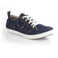 Sepatu Denim Kets Sneakers Casual Pria Navy Blackkelly - LIV 584