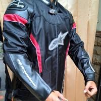 Jaket Motor Touring Alpinestar GP Safety ( Windproof 85% ) Hitam Baru
