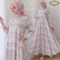 baju gamis muslim murah motif zigzag wolfis