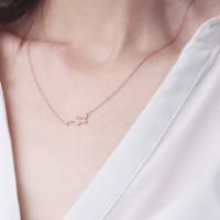[Kalung Zodiak] (Gemini : 21 Mei - 21 Juni) Cocoa Jewelry Star Rose