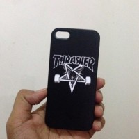 THRASHER black case casing iphone zenfone samsung mi a1 oppo f5 V7+ f3