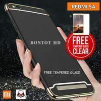 Hardcase Case + Tempered Glass Clear 9H 2.5D For Hp Xiaomi REDMI 5A