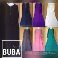 baju muslim/busAna wAnita gamis syari murah/maxi dress umbrella wolfis