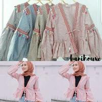 outer kimono baju cardigan wanita hijab muslim cardy cardi zara