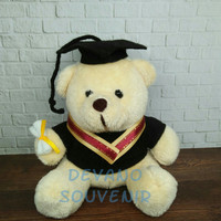 boneka wisuda teddy bear/boneka beruang/souvenir nikah/kado