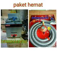kompor gas/deep fryer/selang regulator butterfly 6Lt