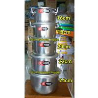 Panci Set Jawa Aluminium susun 5 + PACKING BUBBLE