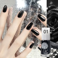 BLACK BK Water Based Nail Polish Peel Off 01