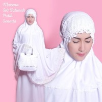 Mukena Dewasa Siti Fatimah Putih Senada Mukenah Cantik
