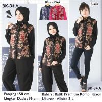 Jual Blouse Batik Cantik / Atasan Batik Wanita / Baju Batik Lengan Panjang Murah