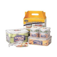 Lock & Lock Gift Set Plastic Food Container with Color Box [7