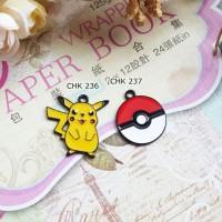 Charm Pikachu - Pokeball I Mainan Kalung I Charm Korea I Korean Charm