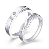 cincin emas putih 18k AuPd + platinum