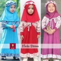 Baju Gamis Anak Muslim | Cardigan Set | Fiola Set